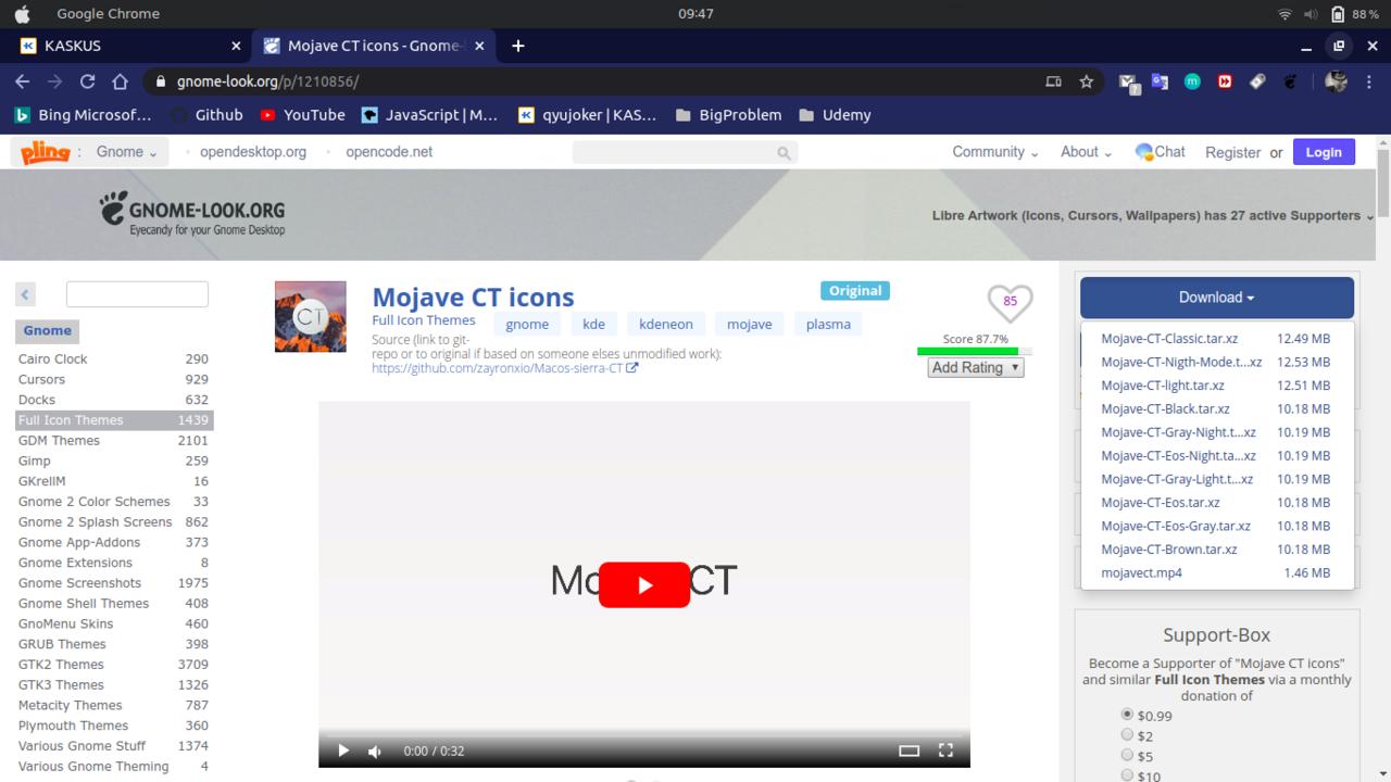 Tips Membuat Tampilan Ubuntu 20.04 LTS menjadi seperti Mac Mojave