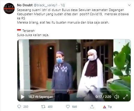 Viral Video Pasutri Diduga Positif Corona Menolak Dibawa ke Rumah Sakit