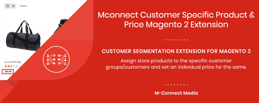 Mconnect Customer Specific Product & Price Extension for Magento 2