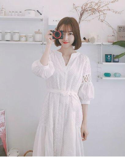 10 Inspirasi White Dress Ala Sunny Dahye Yang Feminin Banget