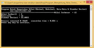 Contoh Program Fungsi Dengan Nilai Balik C++