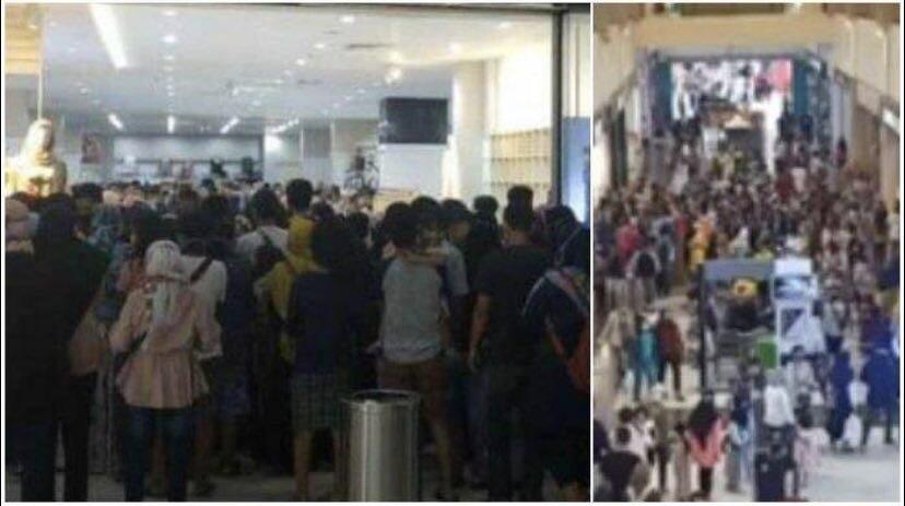 Rela Berjubel Belanja ke Mall, Kini Pembeli Cemas, Seorang Kasir Positif Corona.!!