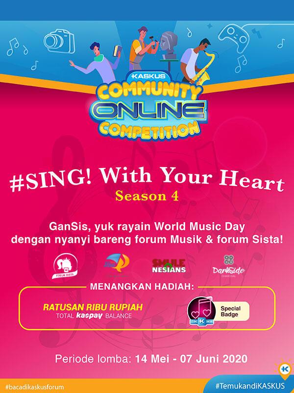 """Selamat! Inilah Daftar Pemenang Kompetisi """"Sing! with Your Heart Season 4"""""""
