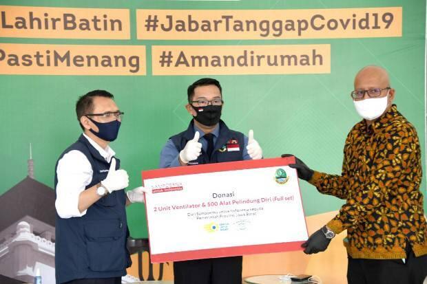 Tujuh Donatur Sumbang Alat Medis dan Sembako untuk Jabar