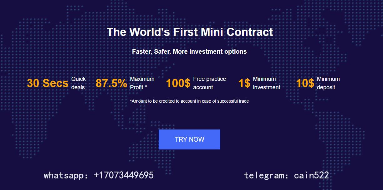 Online marketing about BTC trading platform