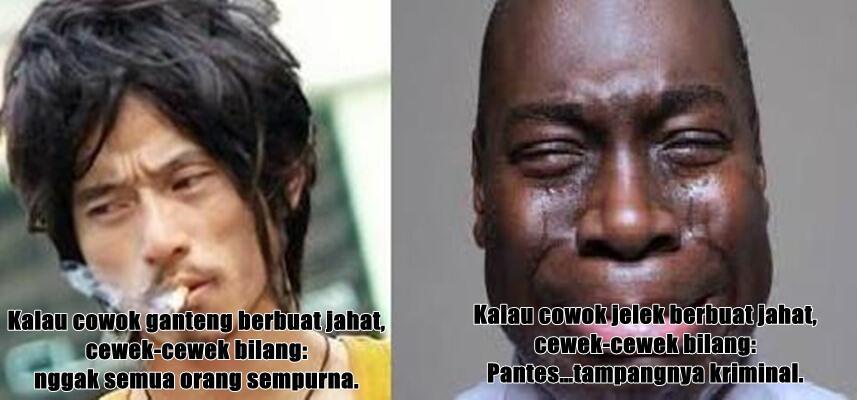 Jelek VS Rupawan. Realita Pandangan Masyarakat