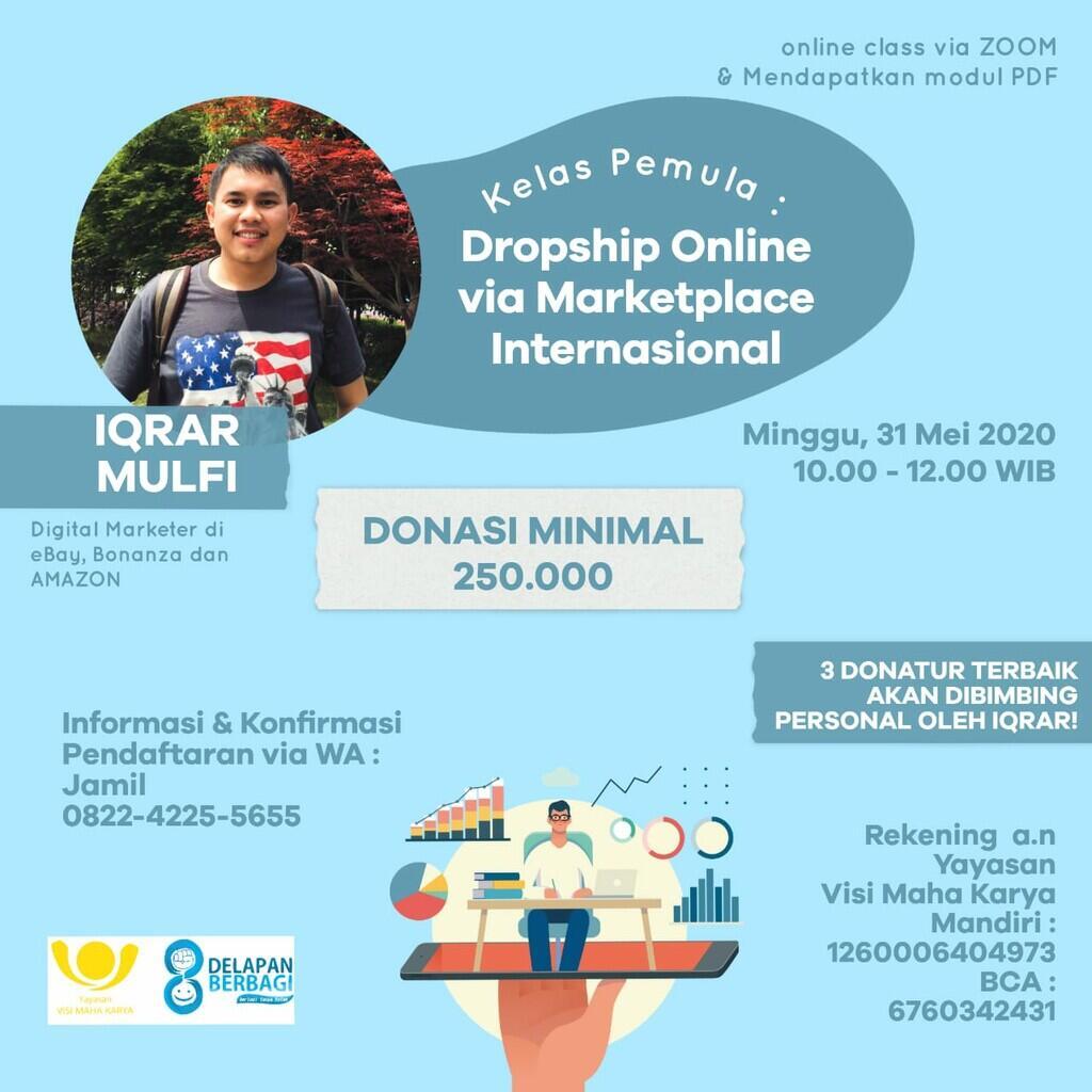 Belajar Dropship Internsional Via Ebay Bonaza dan Amazon untuk Pemula