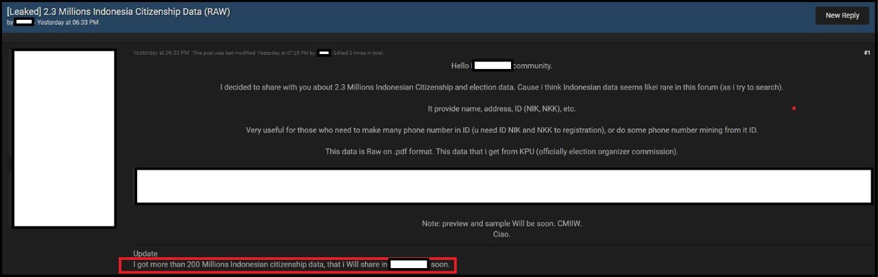 [VIRAL] 200 Juta Data Warga Indonesia Bocor Di Dark Web