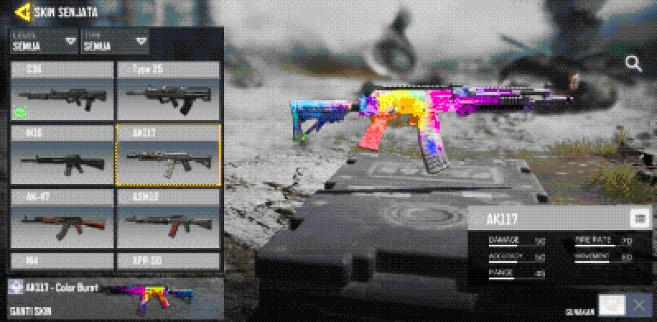 Attachment AK117 Terbaik Call of Duty Mobile