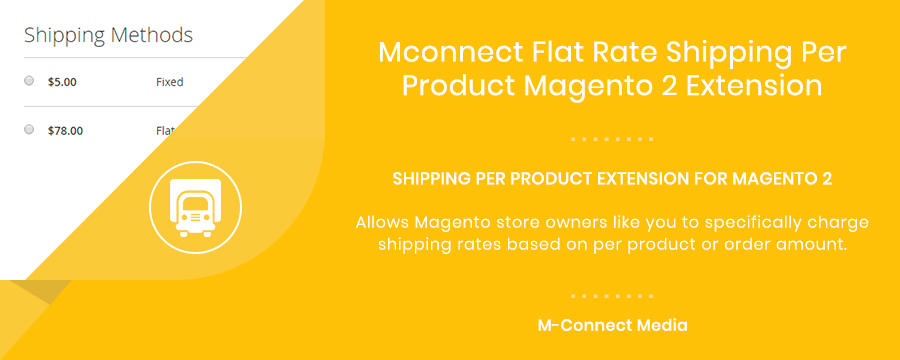 Mconnect Flat Rate Shipping Per Product Extension for Magento 2