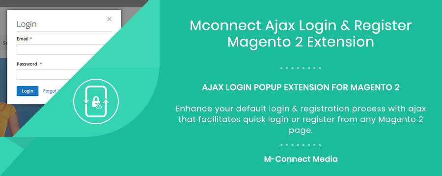 Mconnect Advanced Ajax Login & Register Extension for Magento 2