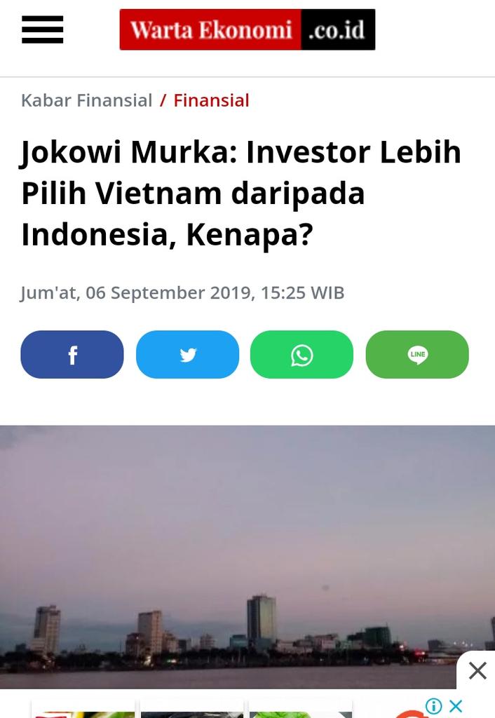 Tegas Tangani Covid-19, JK Prediksi Investor Pilih Vietnam