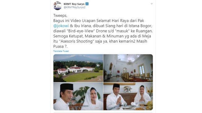 Sindir Soal Ketupat dan Panci dalam Video Jokowi, Roy Suryo Kena Sempro