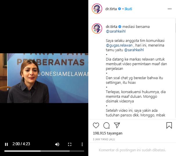 Chat Huru Hara Tentang Lelang Keperawanan Tersebar, Sarah Keihl Bilang : Bukan Saya!