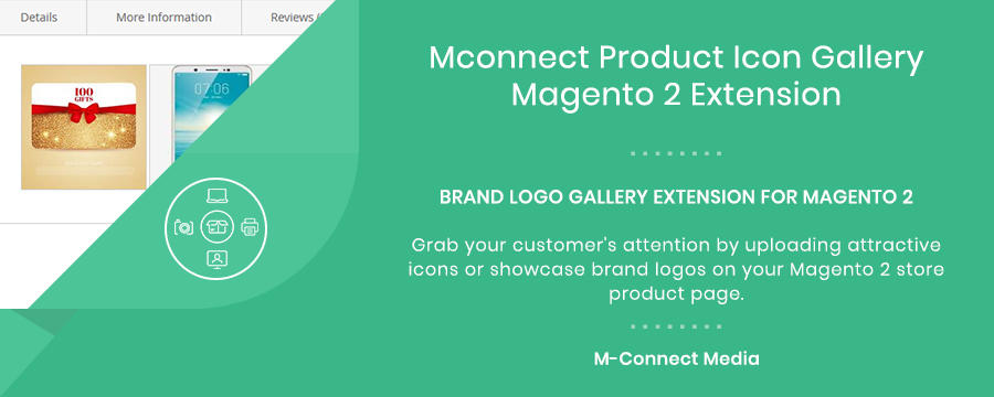Mconnect Product Icon Logo Gallery Extension for Magento 2