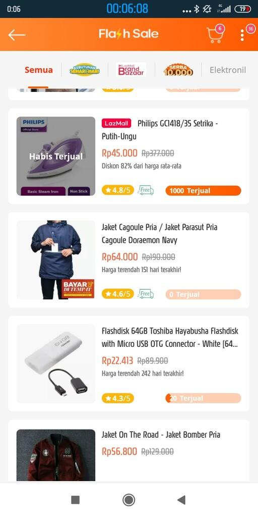 Gagal Belanja Flash Sale