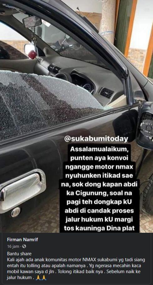 Viral Konvoi Pengendara Nmax Dituding Pecahkan Kaca Mobil, Warganet Geram