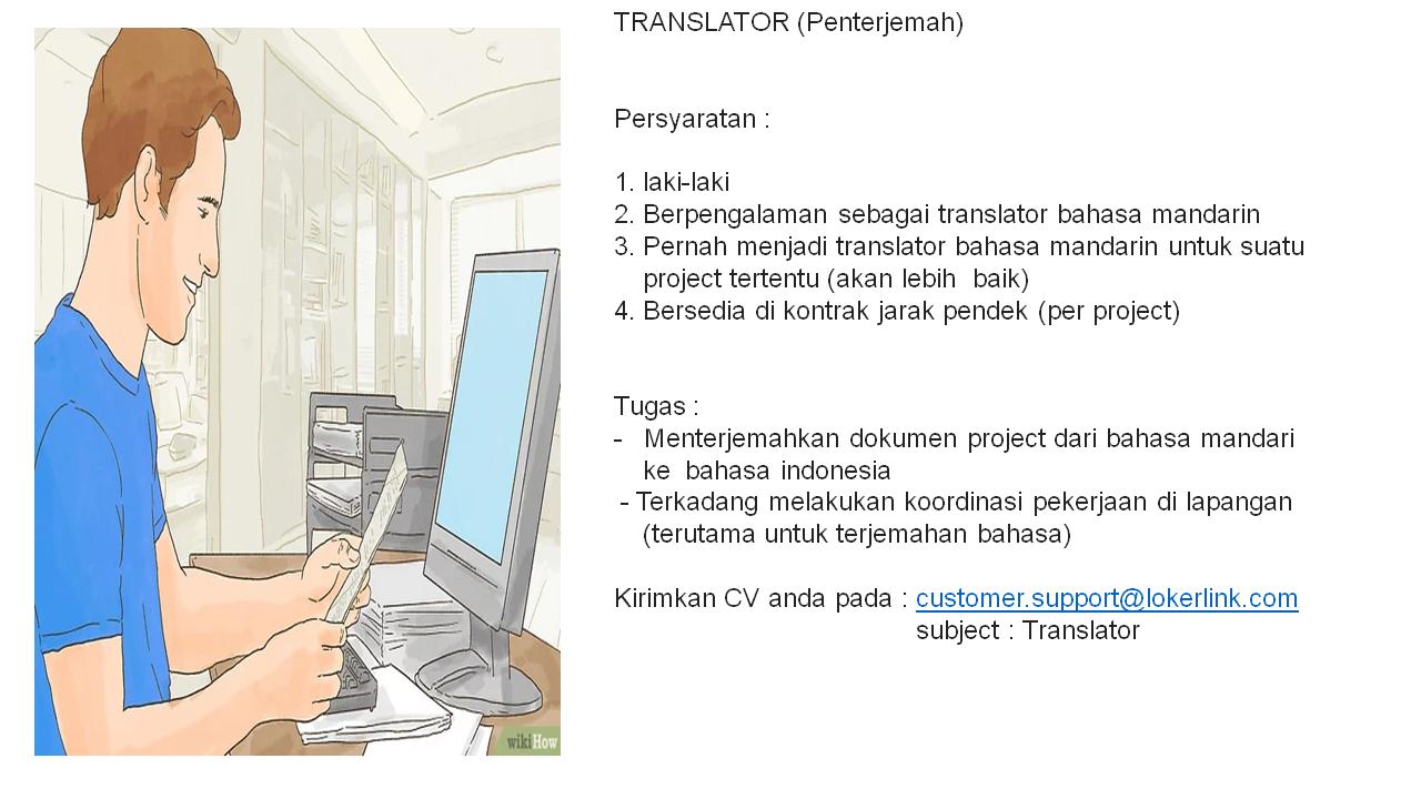 "Lowongan Kerja ""Translator Bahasa Mandarin"""