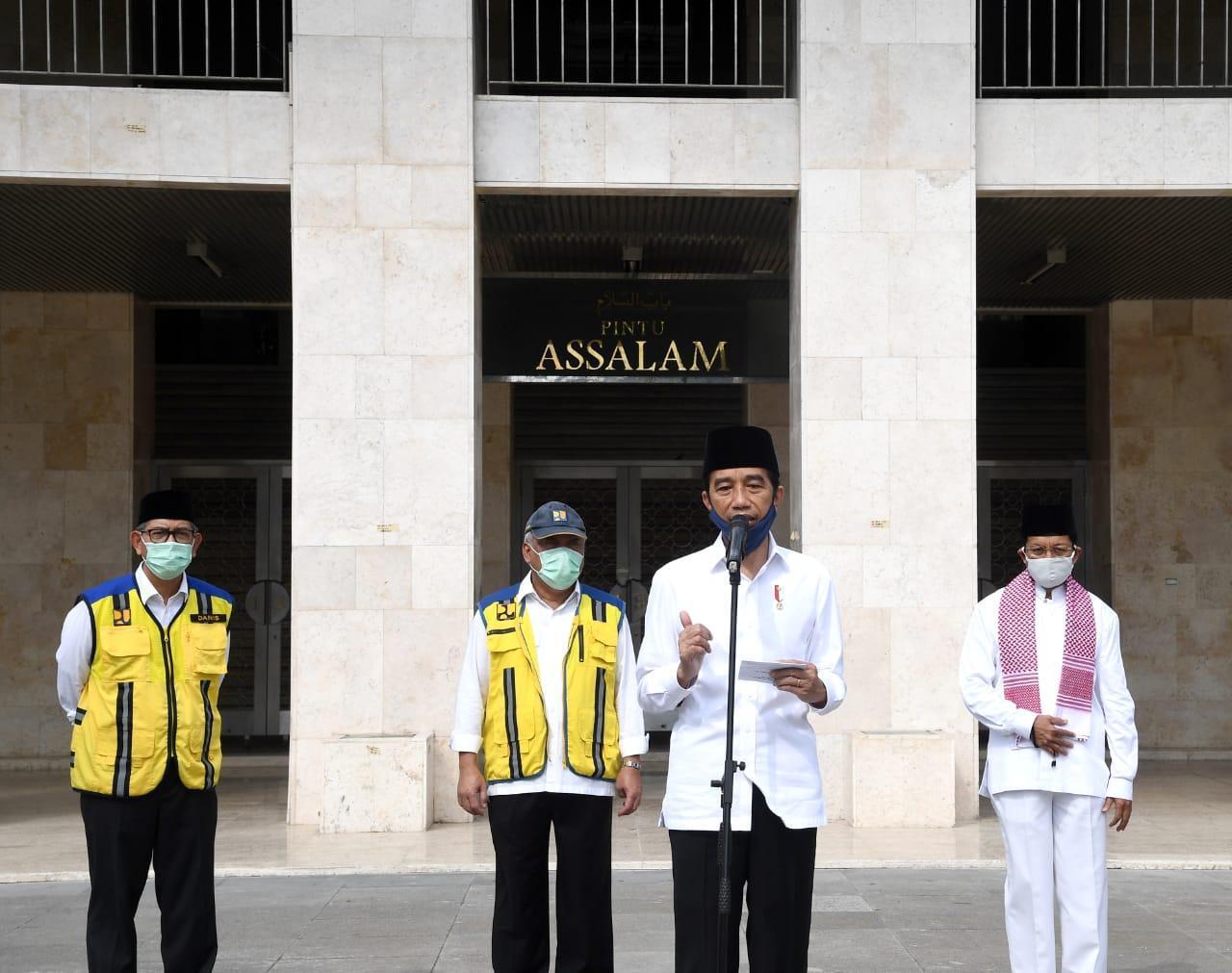 Dalam Rangka New Normal di Sarana Ibadah, Presiden Menyambangi Masjid Istiqal