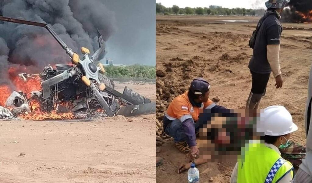 Breaking News! Helikopter Jatuh di Kendal, Anggota TNI Terluka