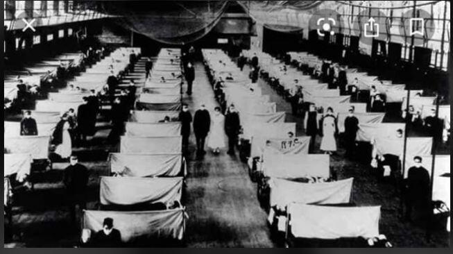 Foto-foto Unik Pandemi Flu Spanyol 1918, Mirip Situasi saat Ini