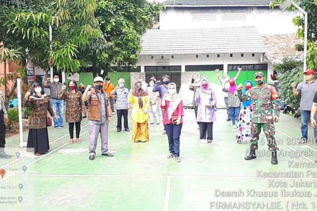 Kampung Merdeka Covid di Kemanggisan Dideklarasikan