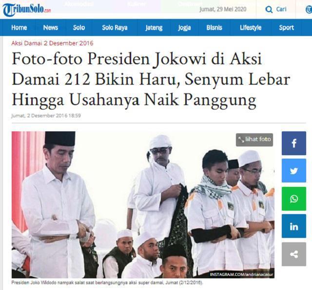 Jokowi Masuk Masjid Bersepatu & Tak Tahu Cara Salat dengan Benar?