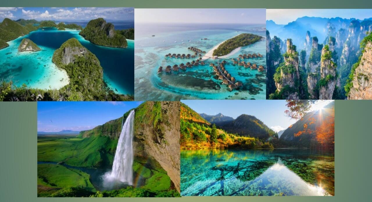 Tak perlu nunggu kiamat! Beginilah potret indahnya surga di Dunia. Indonesia ada?
