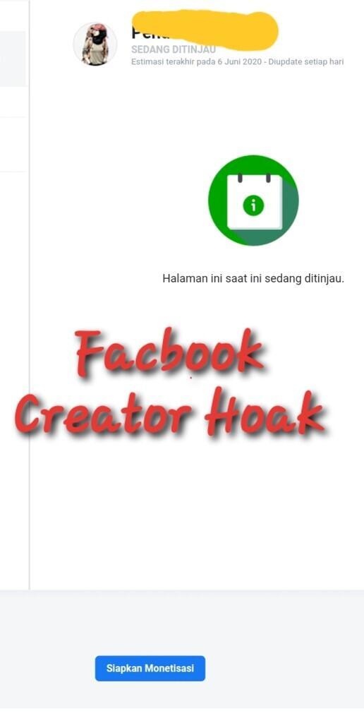Facbook Creator Hoax