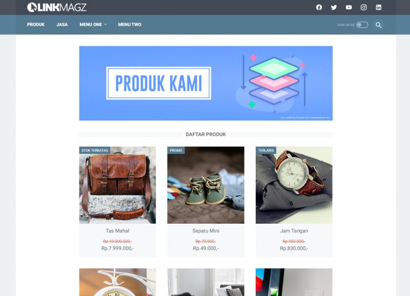 Linkmagz, Template Blogger Rasa Wordpress dari Mas Sugeng