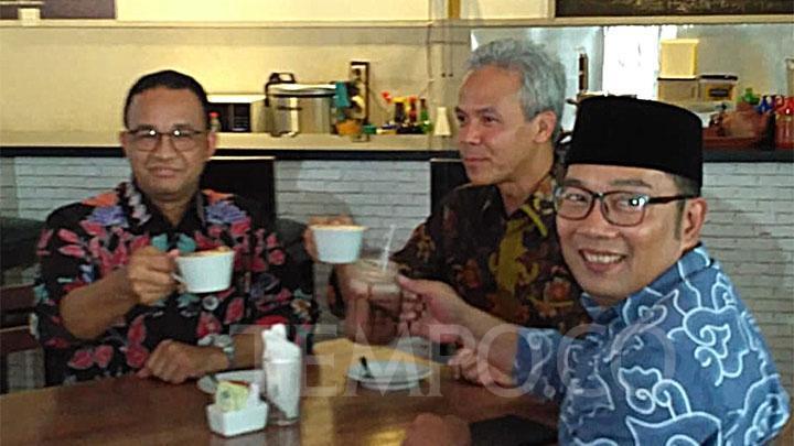 Ini Elektabilitas Ganjar, Anies, Ridwan Kamil Selama Pandemi