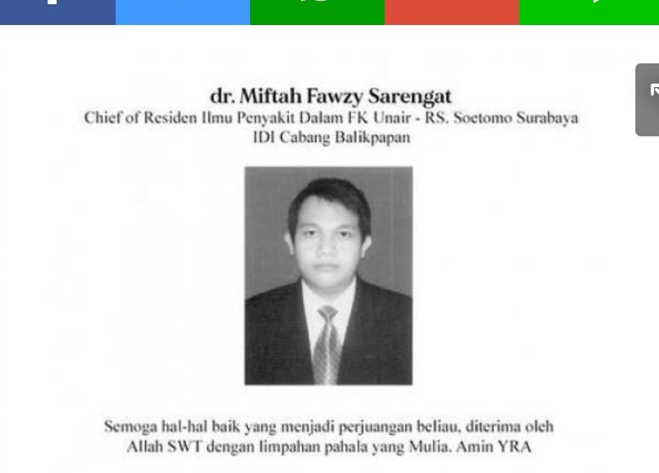 Dokter Residen PPDS RS Dr Soetomo Meninggal Terjangkit Covid-19
