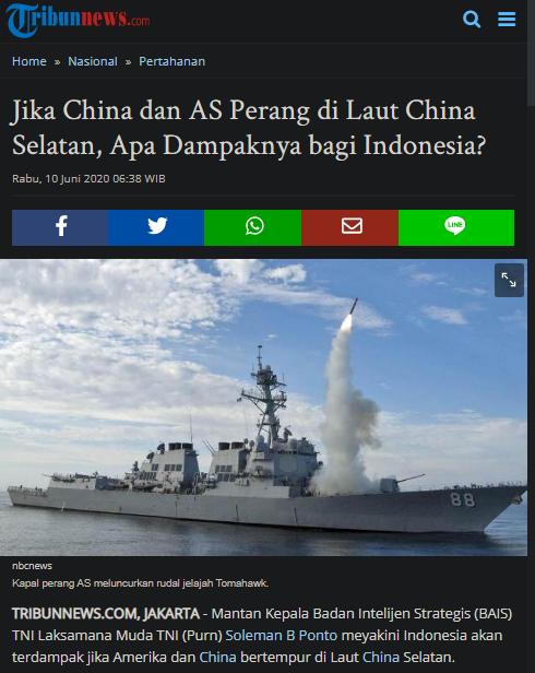 Jika China dan AS Perang di Laut China Selatan, Apa Dampaknya bagi Indonesia?