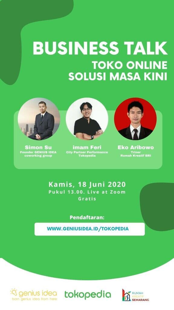 Digital Workshop bersama Tokopedia & Rumah Kreasi BRI Semarang