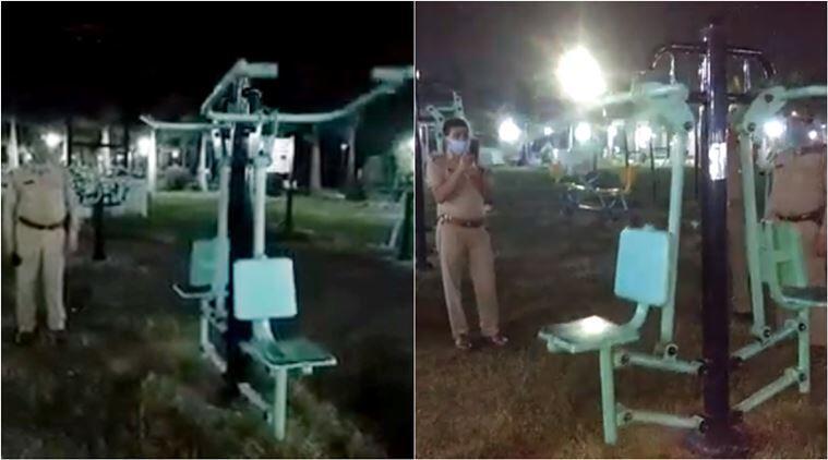 Video Hantu, Menggunakan Alat Fitness Di Depan Polisi Dan Berhasil Direkam!