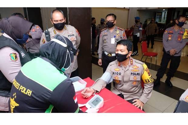 Sambut HUT Bhayangkara , 177 Personel Polda Kalsel Aksi Donor Darah