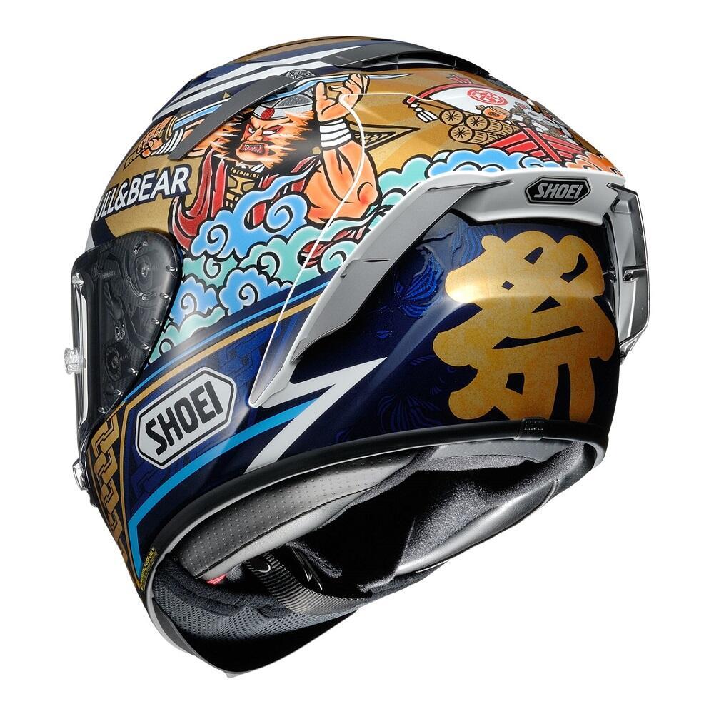 Helm Marc Marquez Motif Khas Negeri Sakura Yang Memiliki Banyak Makna