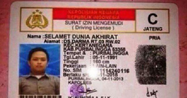 10 Nama Unik dan Lucu Yang ada di Indonesia