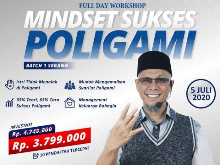 Heboh Poster Workshop Poligami Sukses, Bayarannya Rp4 Juta