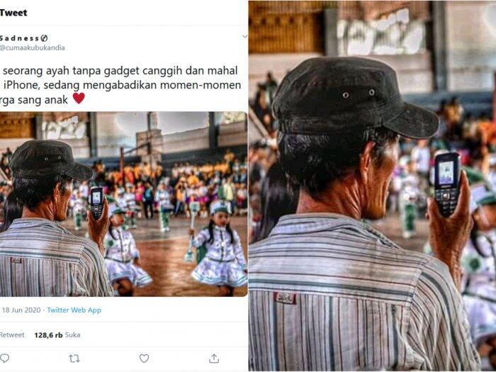 Potret Haru Ayah Rekam Aksi Anak Tampil Marching Band Pakai Ponsel Jadul