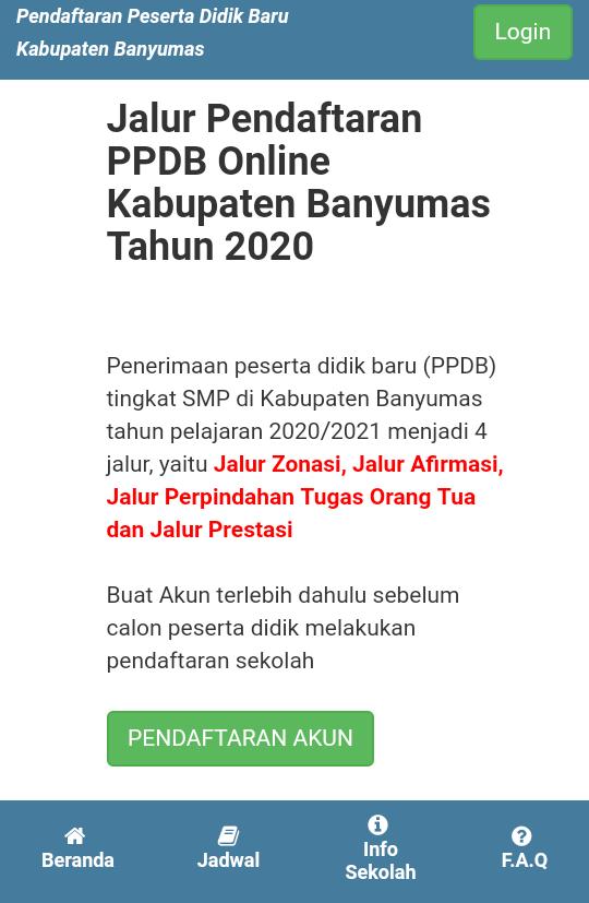 Cara Pendaftaran Online PPDB 2020