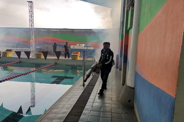 Cegah Wabah DBD, PRSI Jabar Fogging Area dan Fasilitas Latihan Akuatik
