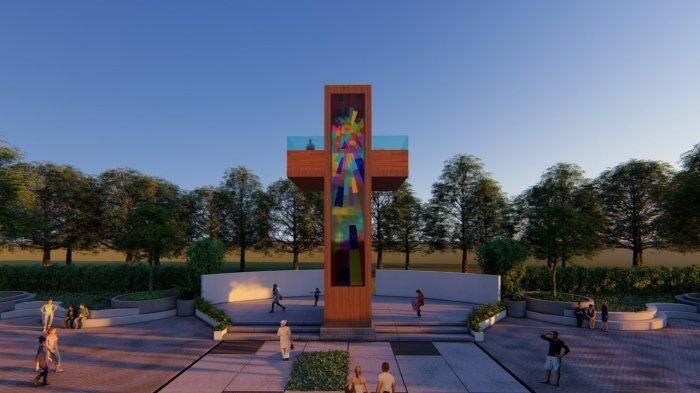 Monumen Salib di Kaki Jalan Giant Cross Lokasi Perumahan Sejahtera Land Oetalu