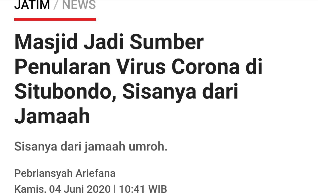 Suami Istri Meninggal Positif Corona, Ketua RW: Padahal Kegiatannya Hanya ke Masjid