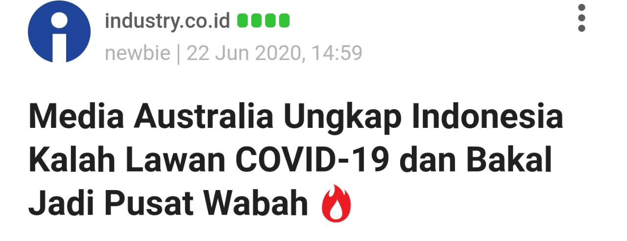 Jokowi Bandingkan Kasus Covid di Indonesia dengan AS hingga India