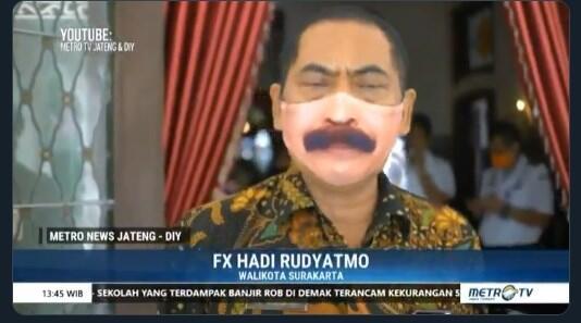 Masker Kumis, Ini Deretan Komentar Kocak Netizen Lihat Penampilan Unik Walikota Solo