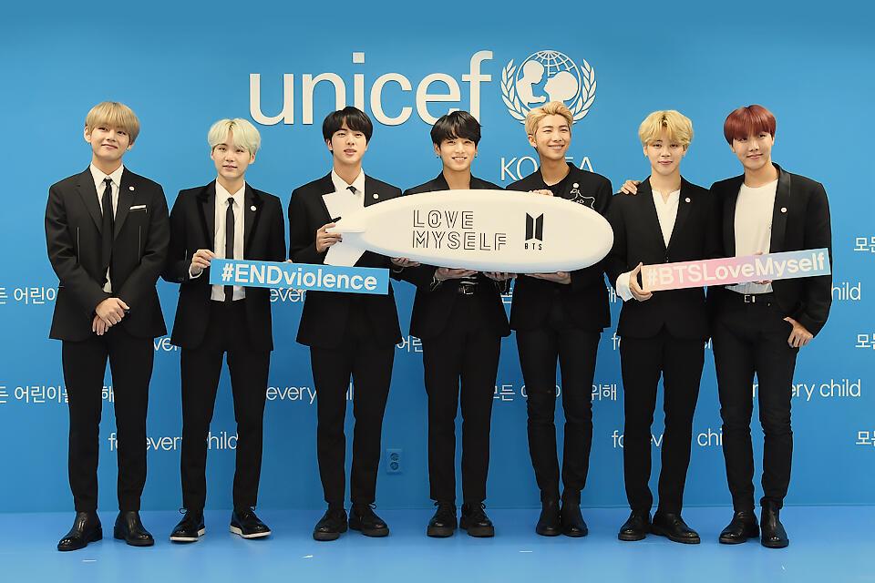 BTS Raih 'UNICEF Inspire Awards' untuk Kampanye Love Myself