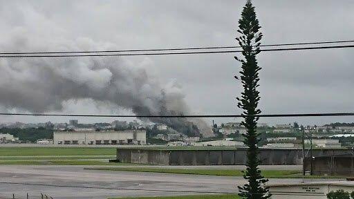 Lab Hazmat Pangkalan AS Kebakaran di Okinawa