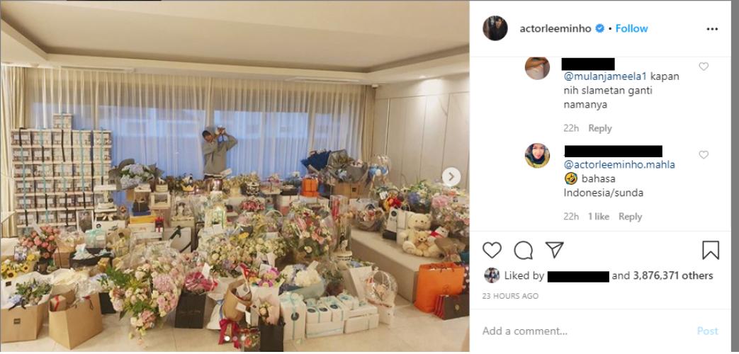 Komentar Mulan Jameela di Instagram Lee Min Ho Diprotes Netizen, Kenapa?