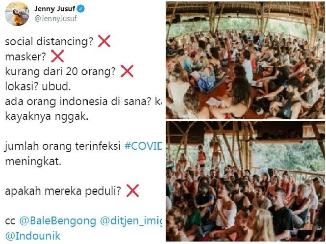 Kumpulan Bule Yoga Massal di Bali Tanpa Masker & Gak Jaga Jarak, Netizen +62 Ngamuk!